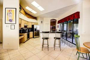 View of the Kitchen and Breakfast Nook from Living Room