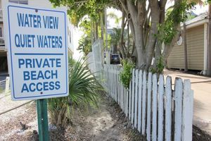Your own private beach access right across the narrow street