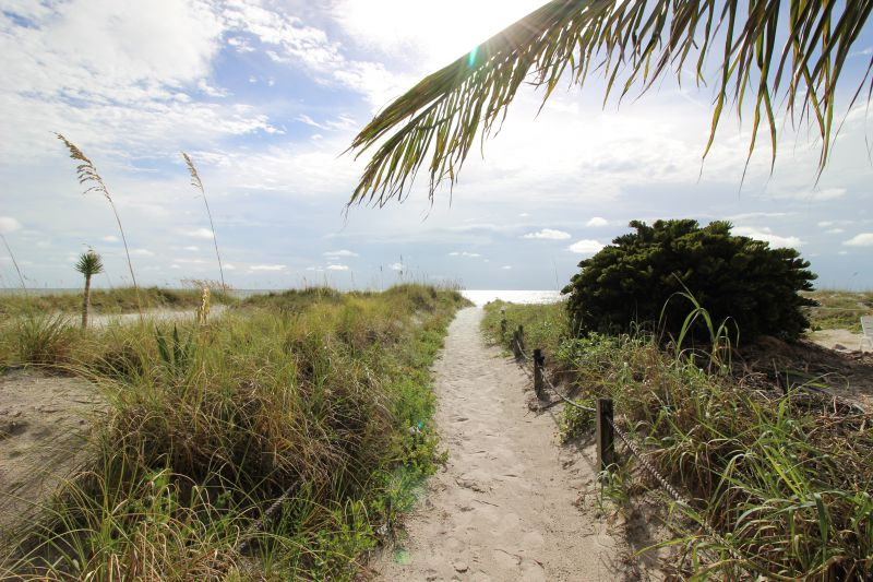 Scenic 50 yard trail to the beach.