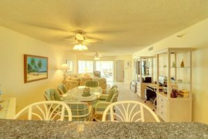 Expansive living and dining area