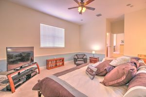 Large king bed, private bath, wet bar and microwave in room