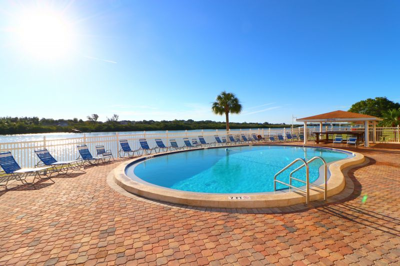 Soak up sun at the waterfront pool area.