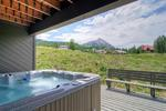 Mt Crested Butte home rental with hot tub and mountain views 3 bedrooms sleeps 10