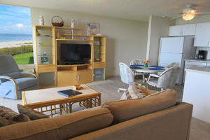 Estero Beach And Tennis Club 205C with comfortable seating and large screen TV