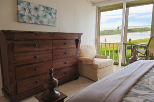 Private Lanai Access from Guest Bedroom at Creciente 313N