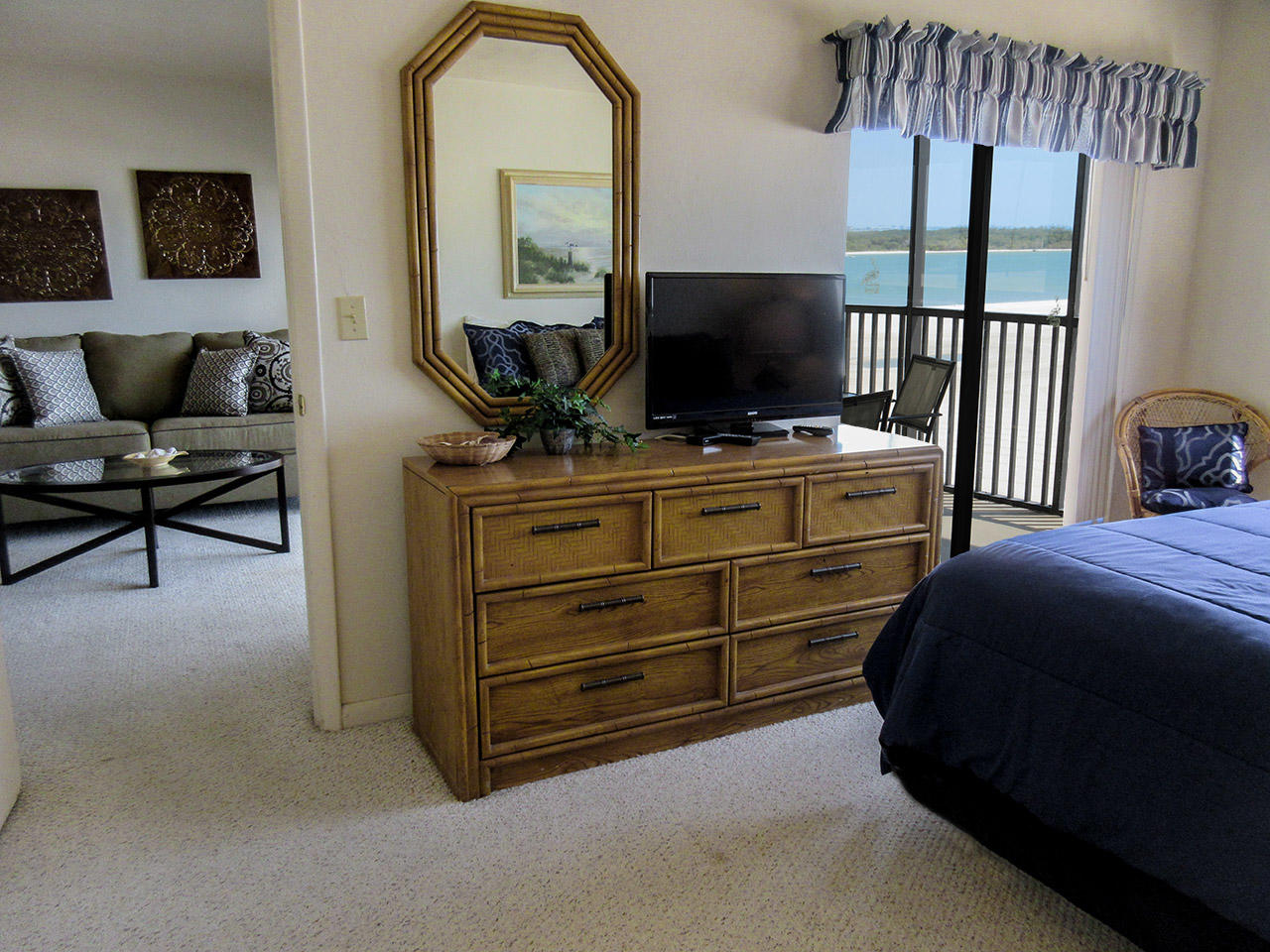 Carlos Pointe 415 Master Bedroom with private lanai access