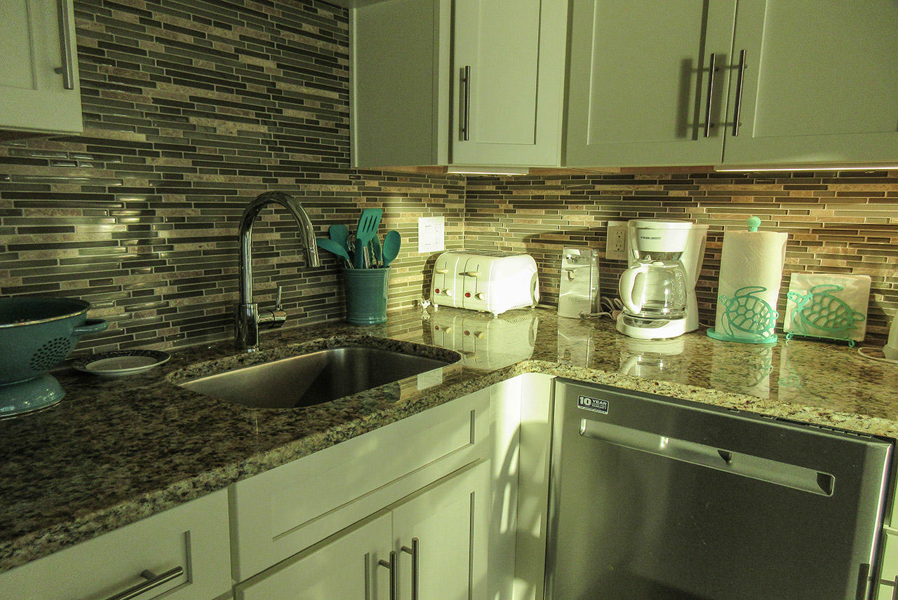 Beautiful new kitchen at Estero Beach And Tennis Club 1105A