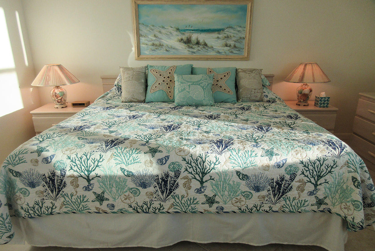 King Sized Bed at Estero Beach And Tennis Club 1105A