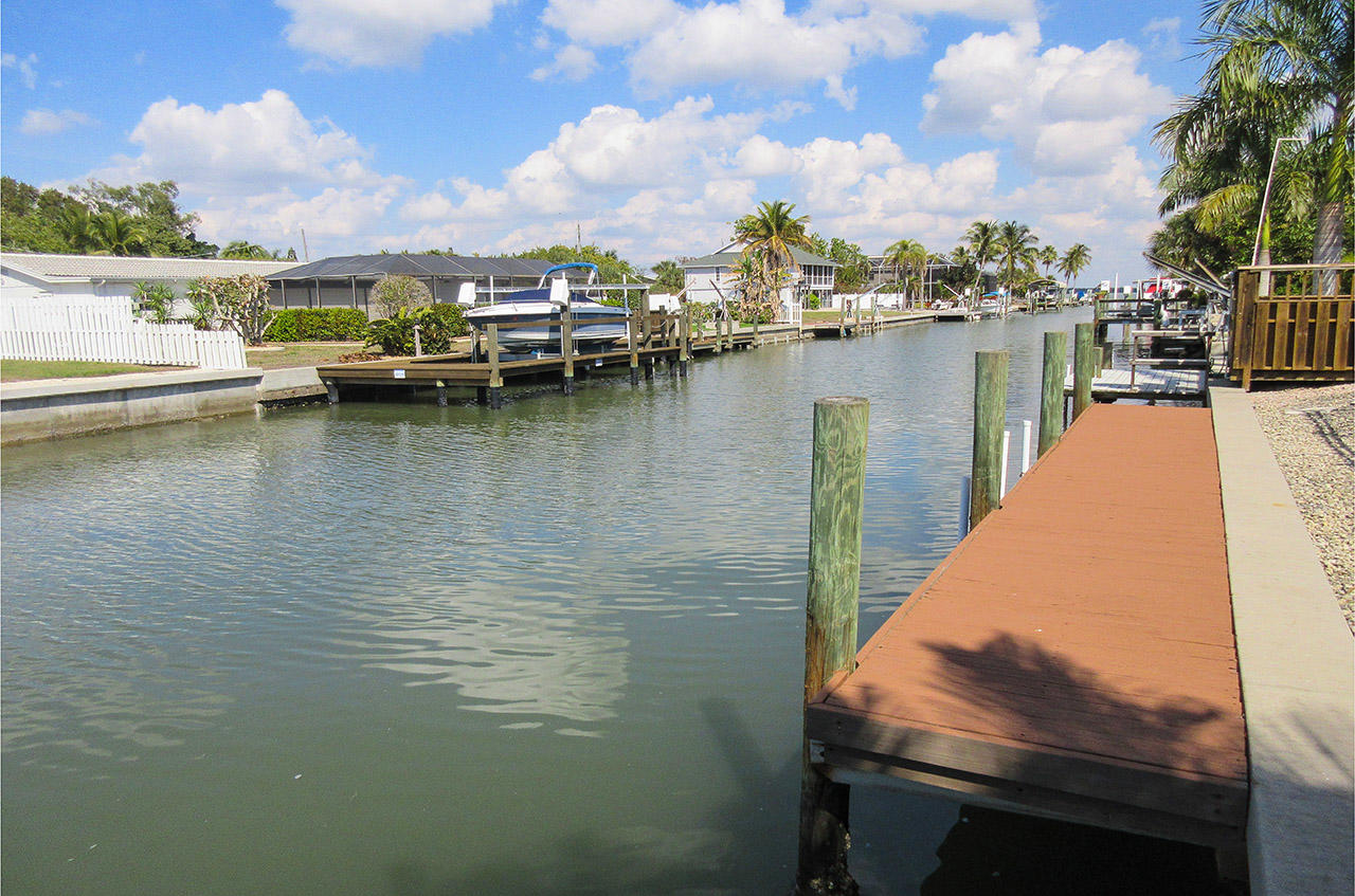 Wide Canal and Boat Dock