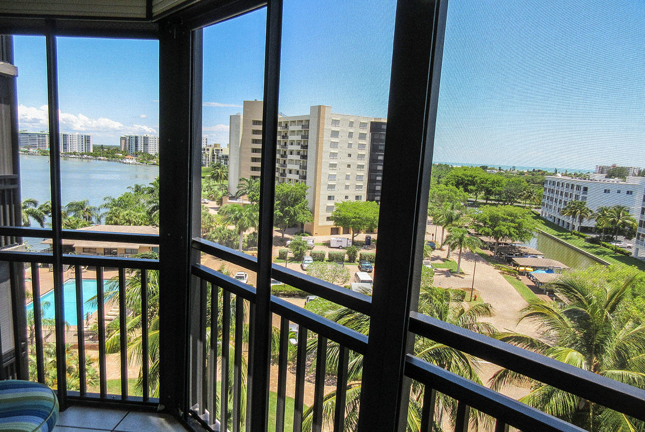 Harbour Pointe 725N - Gorgeous Water Views of the Bay, Canal, Pool and the Gulf Beyond