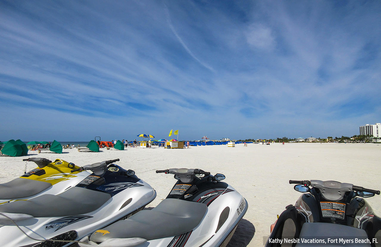 Rated in the top 10 best beaches in the U.S.  Fort Myers Beach.