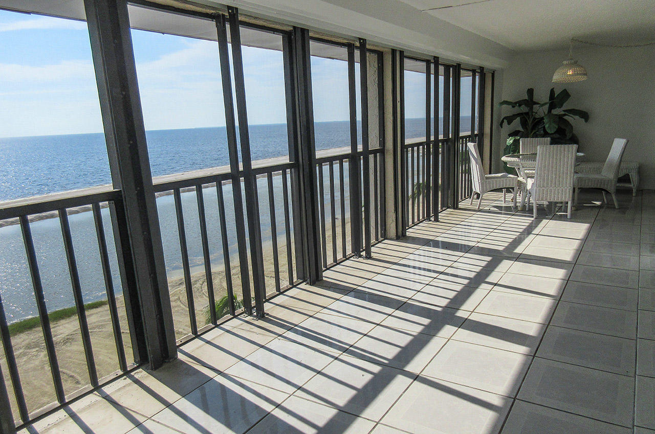 Eden House Penthouse 5 Huge Screened In Lanai With Direct Gulf Views