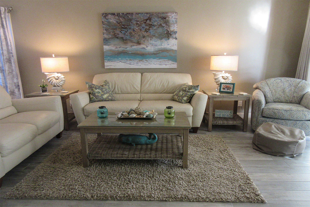 Sand Caper 108 Comfortable seating with large screen TV