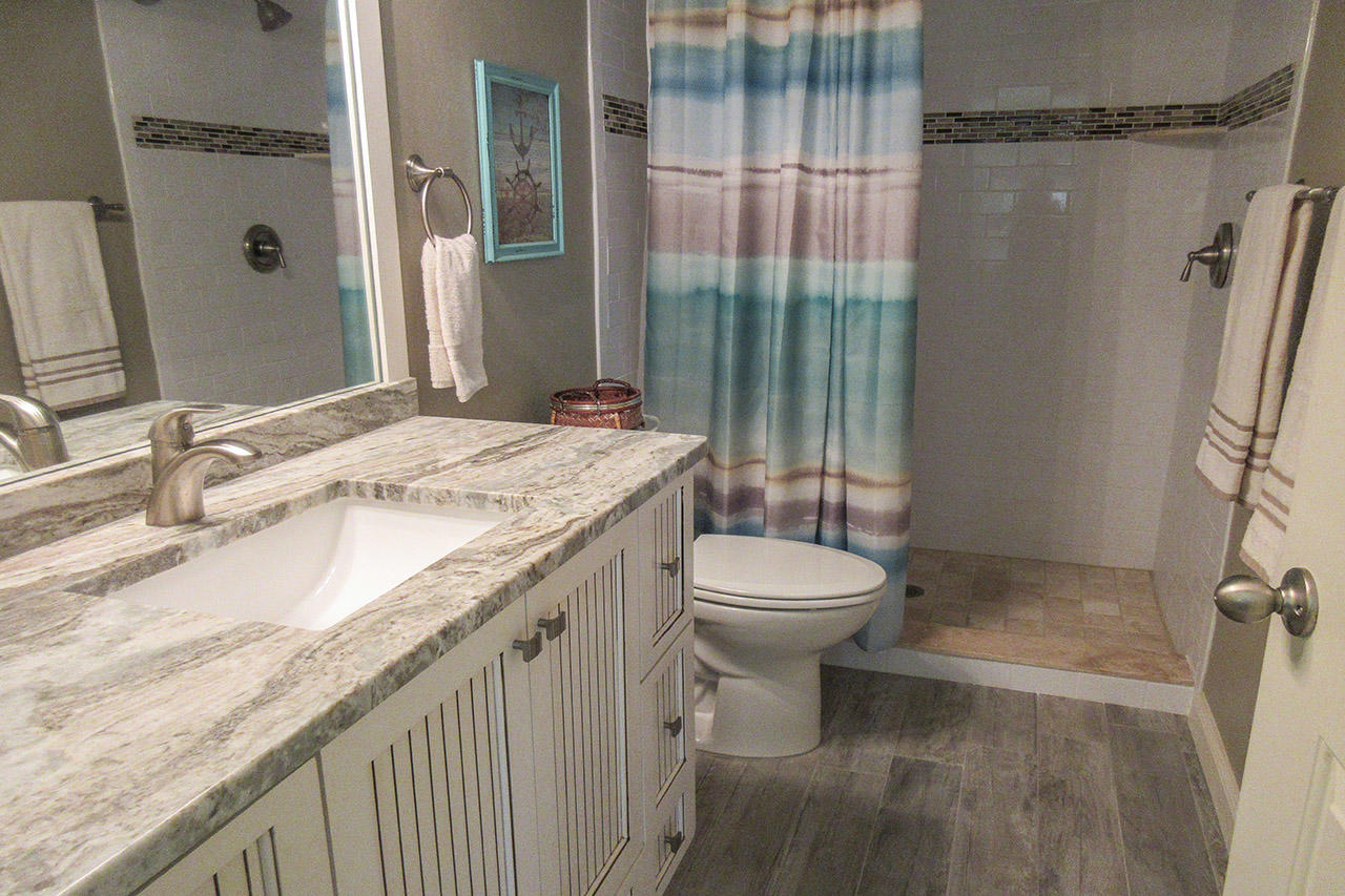 Sand Caper 108 Guest Bath with walk in shower