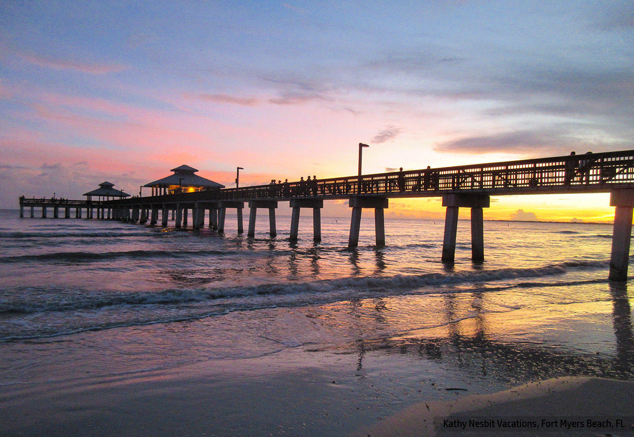 World famous sunsets at The Pier on Fort Myers Beach