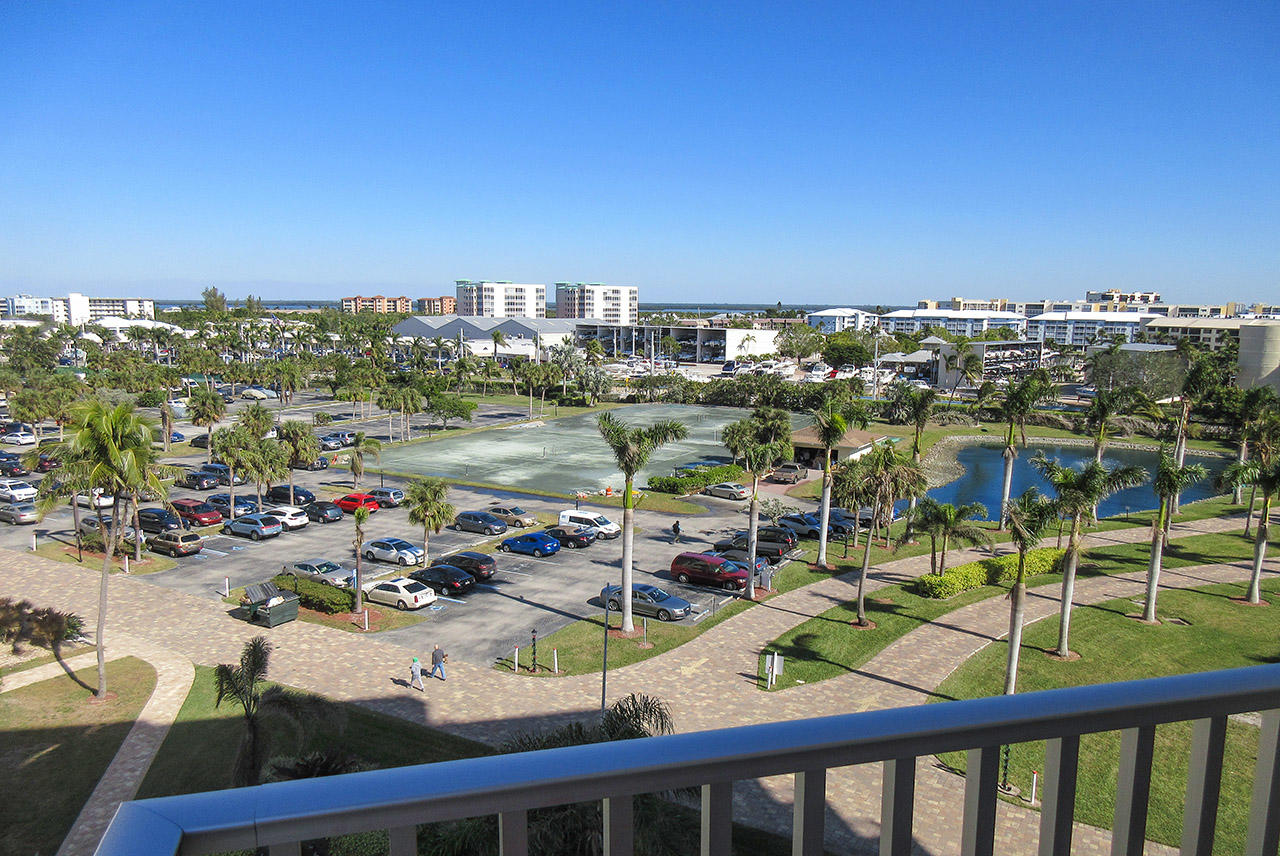 View from the balcony at Estero Beach And Tennis Club 607C