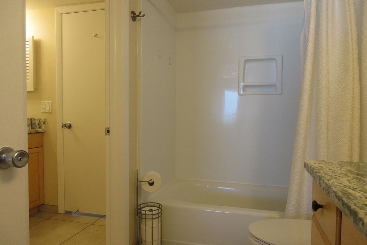 Guest Half Bath has access to Master Bath Tub and Shower