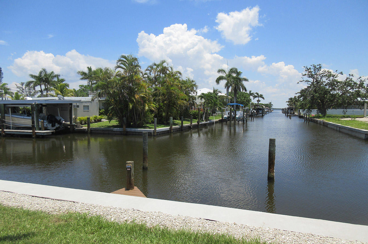 Canal leads directly to Bay and then to Gulf waters.