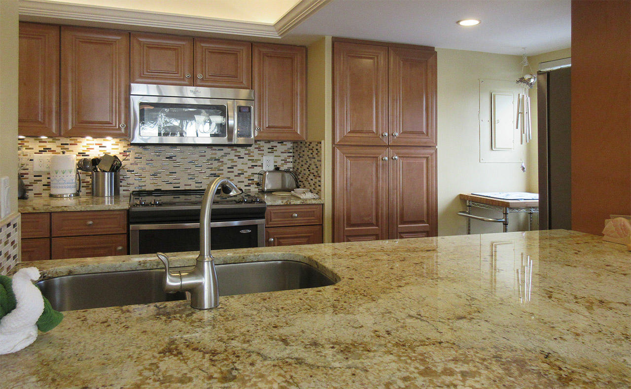 Granite countertops offer function and beauty at Eden House 206