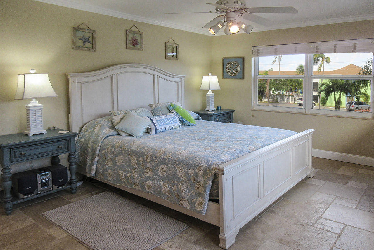 King Sized Bed in the Master Bedroom
