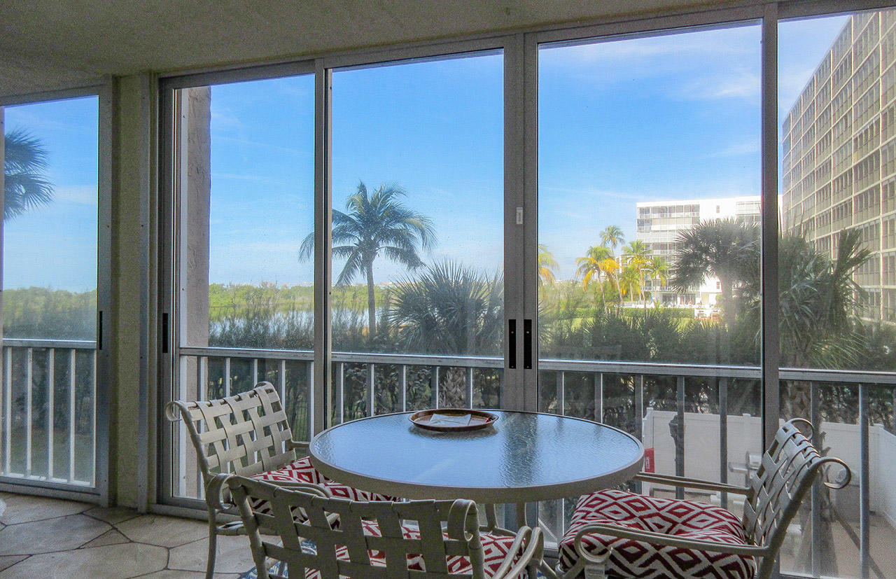 Gulf View from the huge lanai at Creciente 213N
