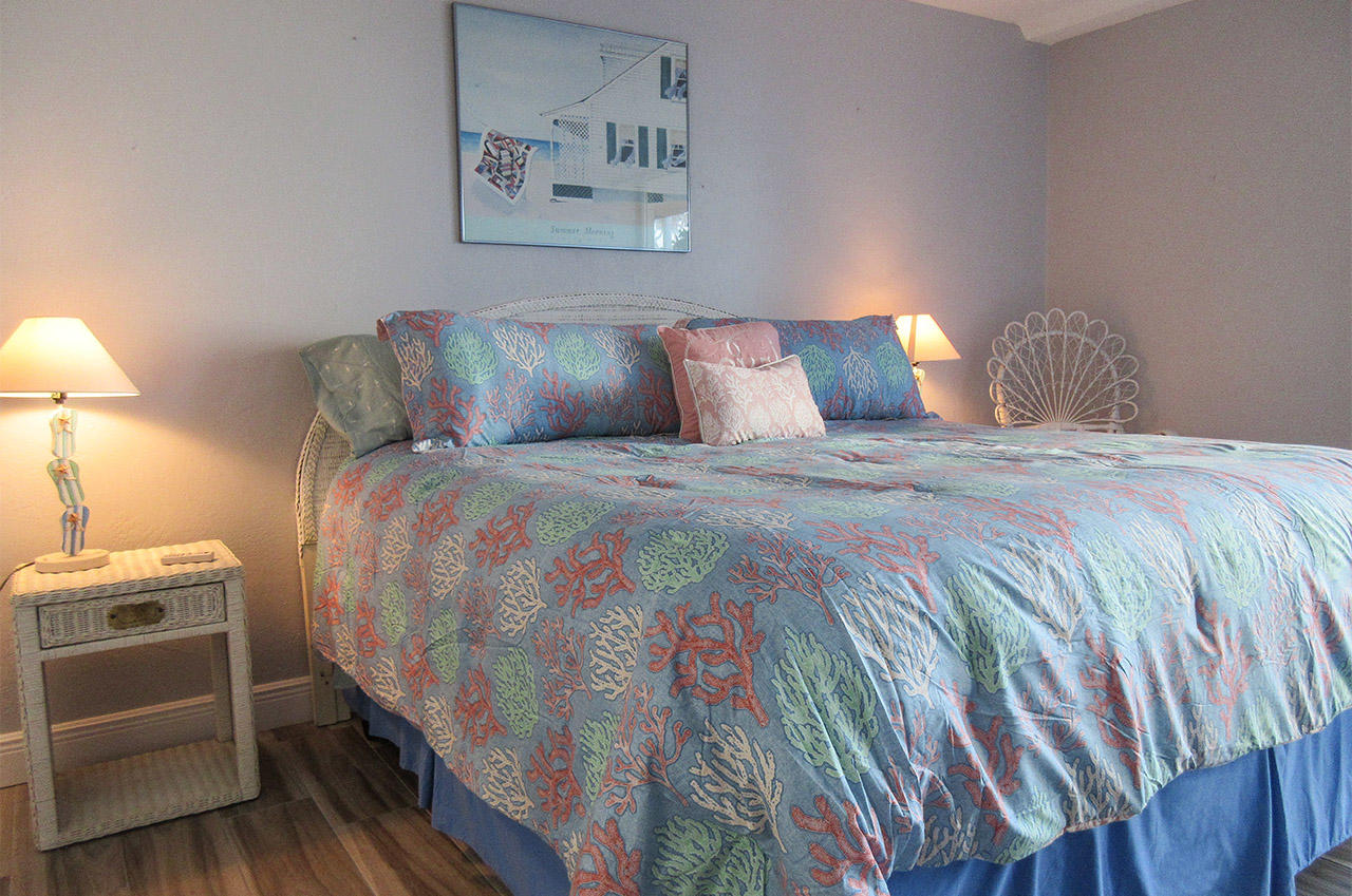 King Sized Bed in Master Bedroom