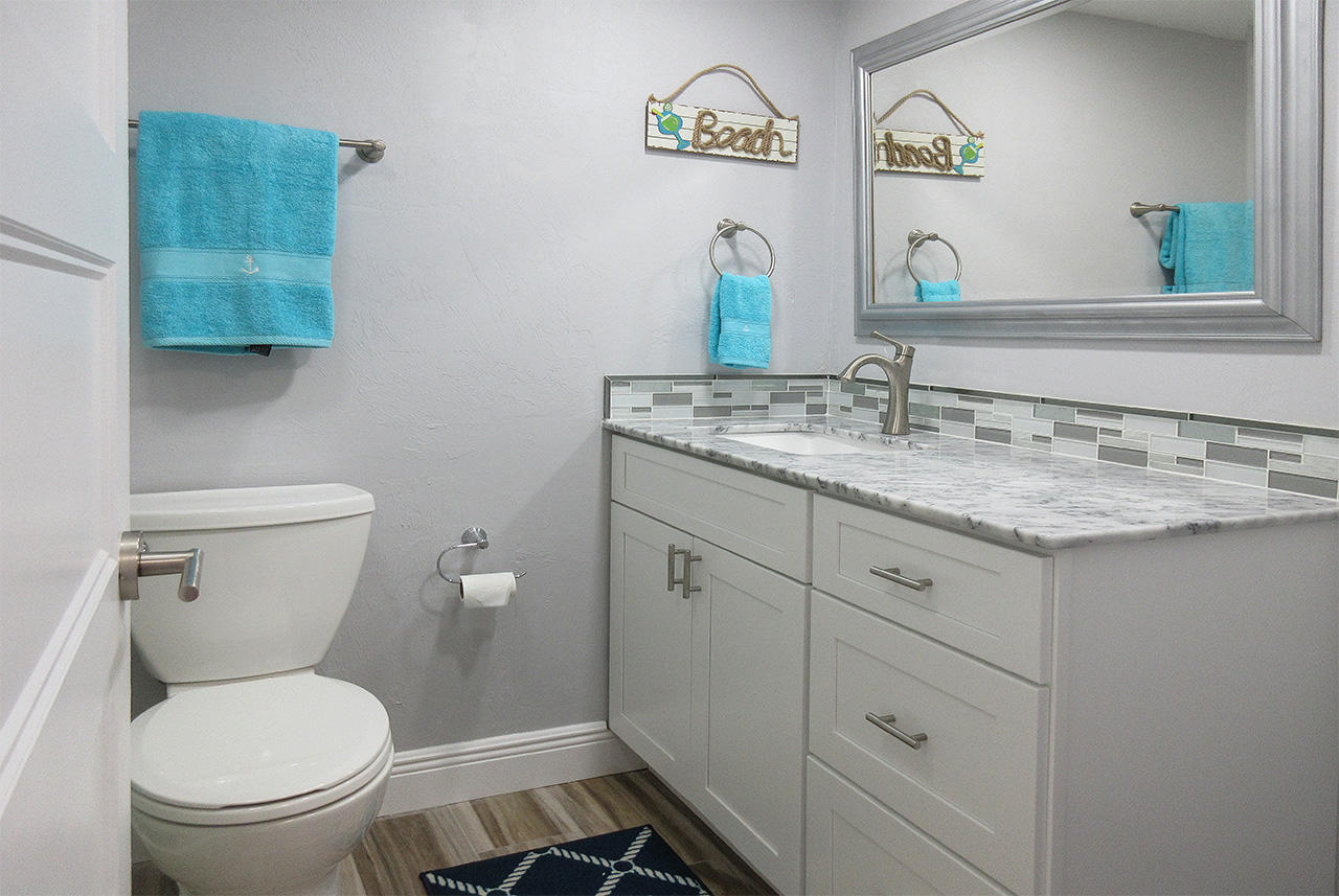 Master Bath is newly remodeled
