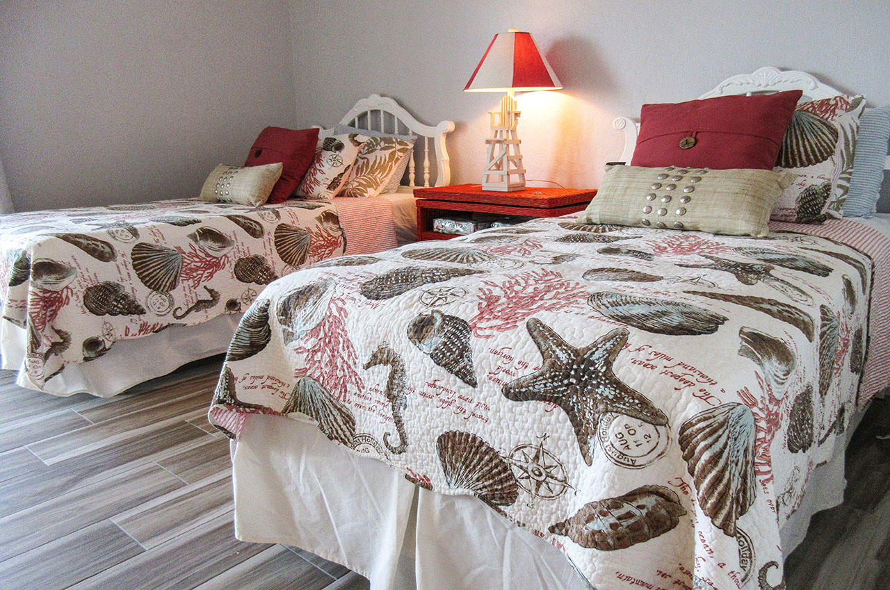 Two Twin Beds in the Guest Bedroom