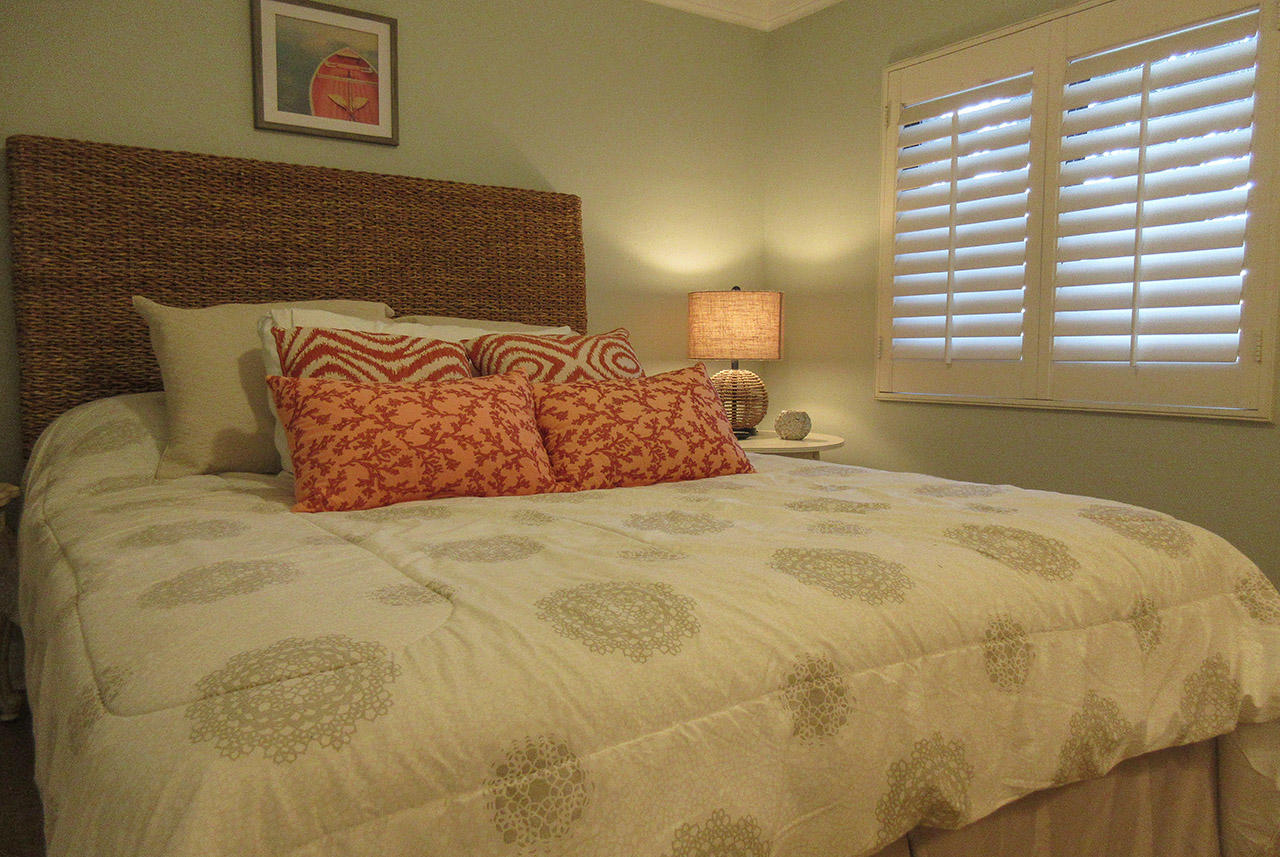 Comfy Queen Sized Bed in the Guest Bedroom