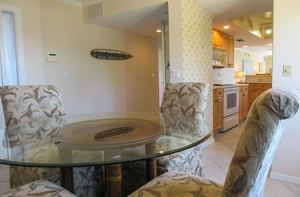 Separate dining room is right off the kitchen