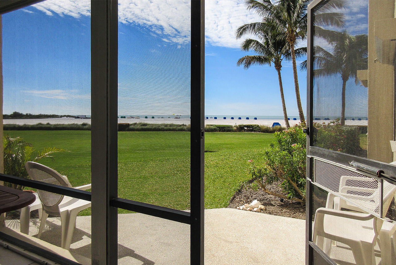 Sandarac 109B has a private patio with a grand view of the Gulf