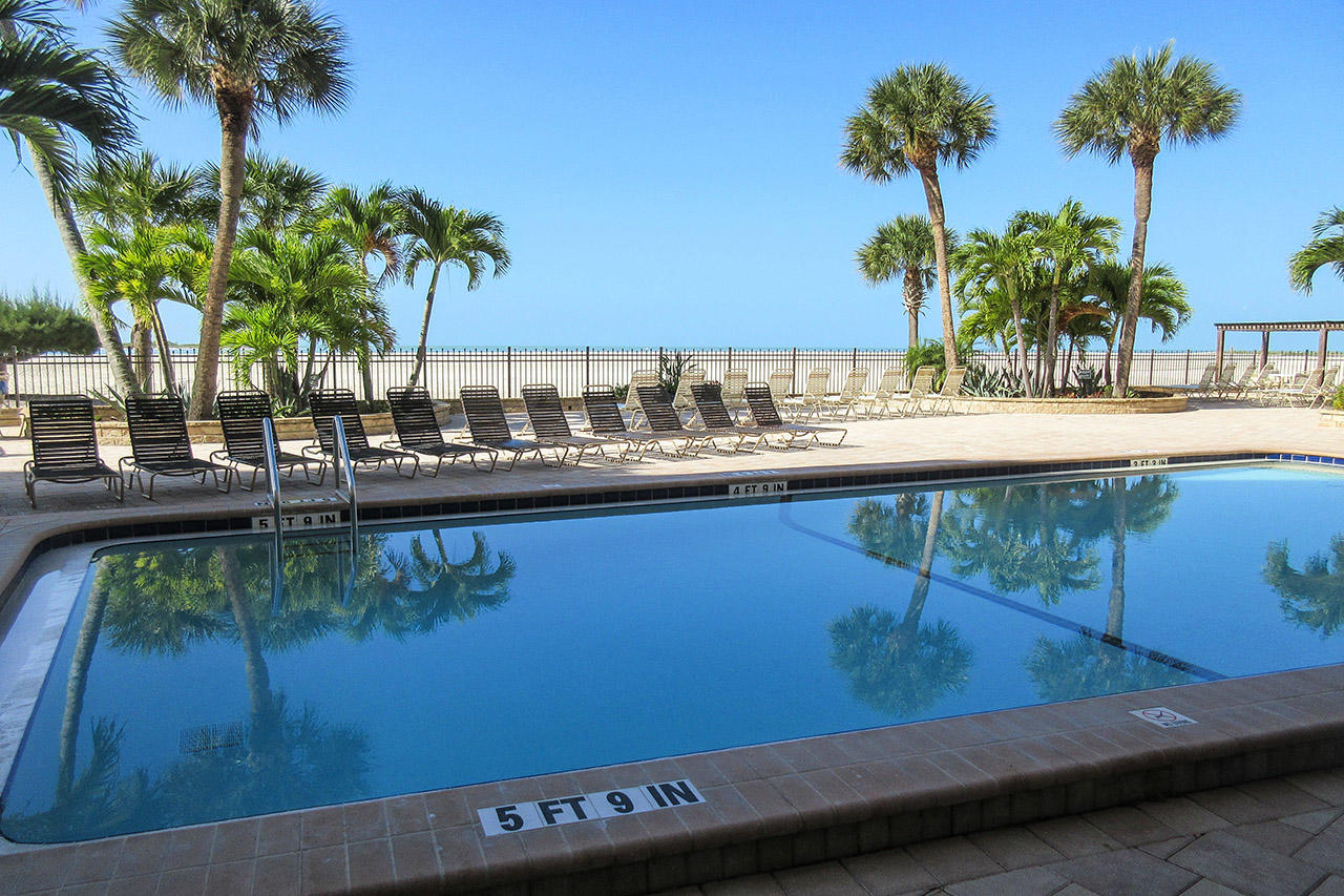 Heated Resort Sized Pool at Carlos Pointe