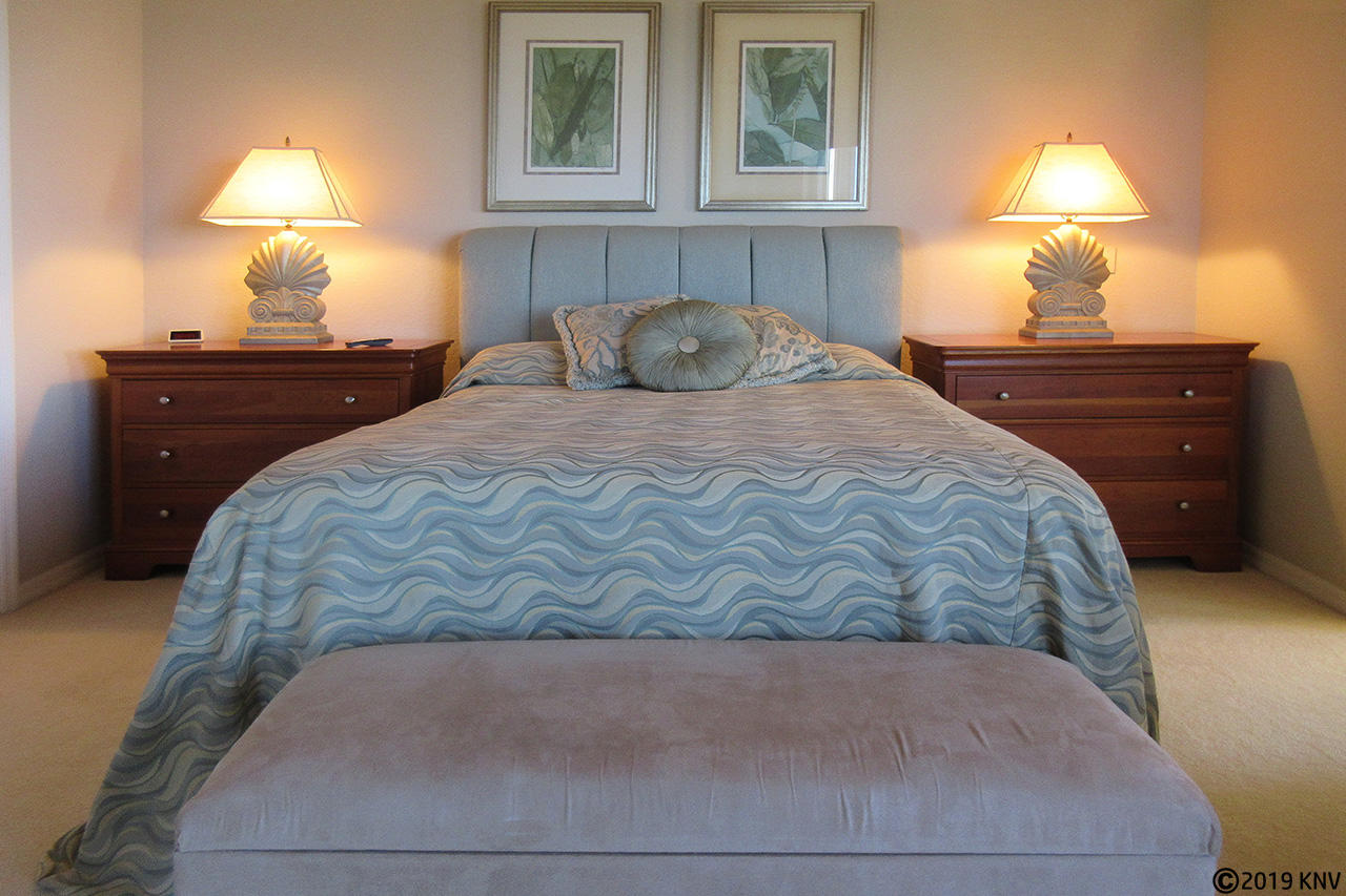 Queen Sized Bed in the Master Bedroom