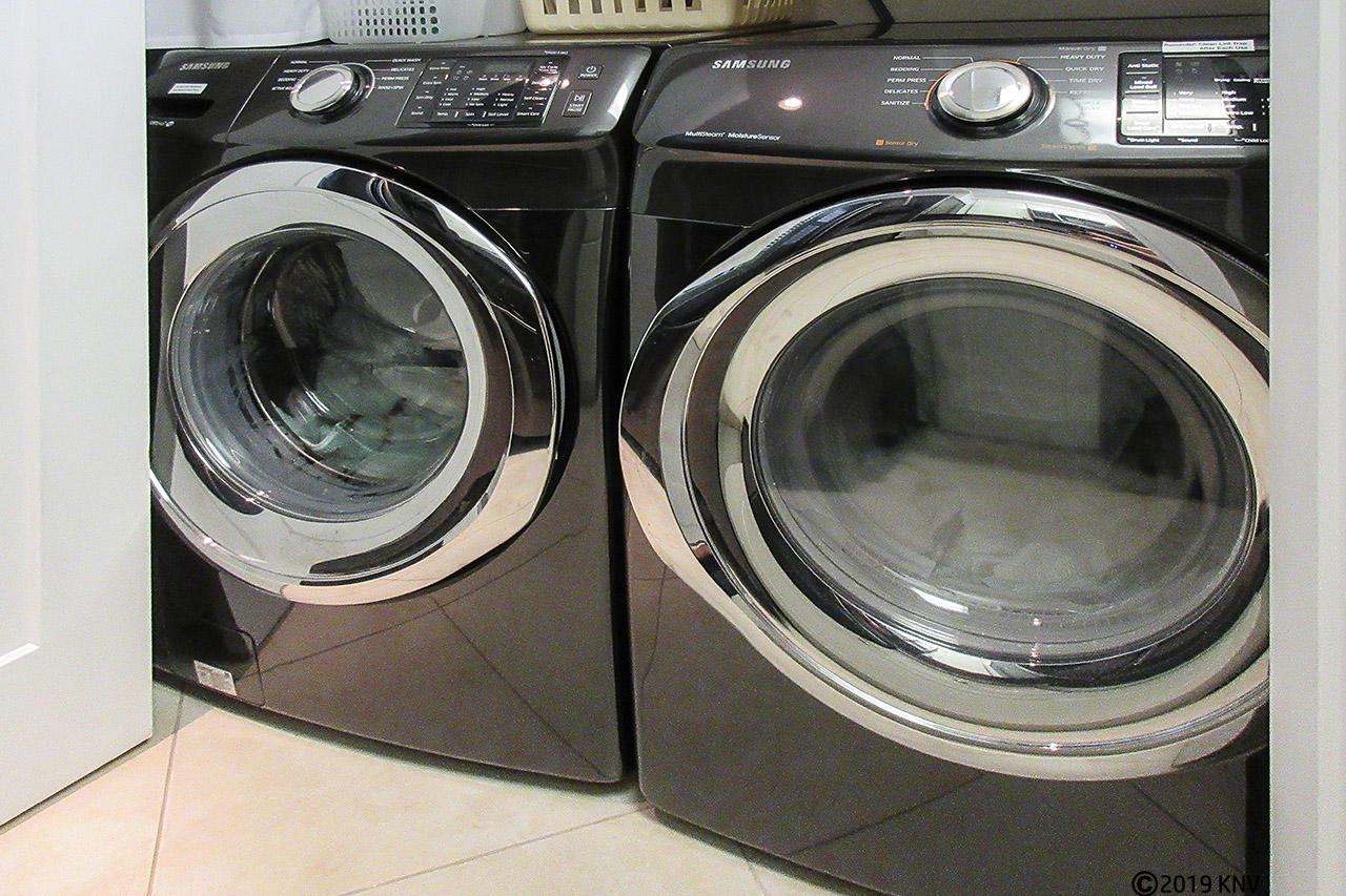 Brand new full sized washer and dryer allows you the convenience of fresh towels and returning home with a suitcase full of clean clothes.