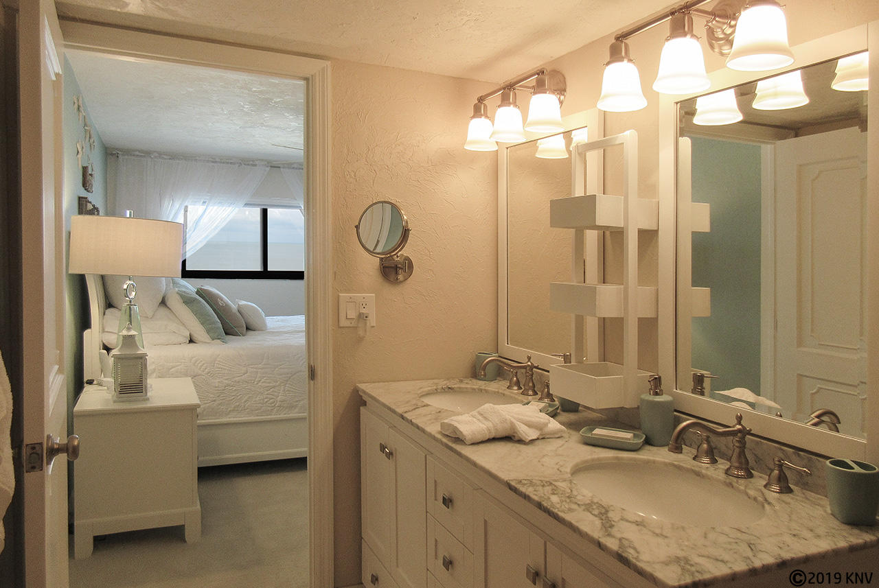 Dual Vanities and Walk in Shower in the Master Bath