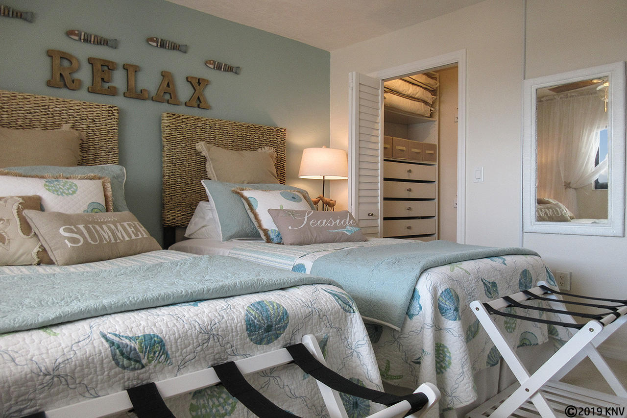 Guest Bedroom has been outfitted with everything necessary to be the perfect vacation getaway spot.