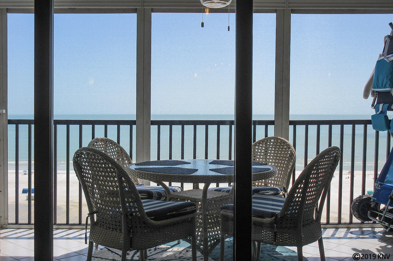 Hello Sunshine...from your screened in lanai right on the white sands of Fort Myers Beach