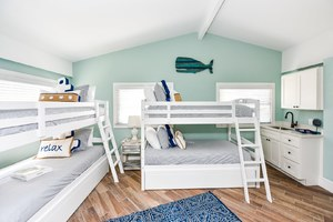 Bunk Beds, Wet Bar and Bath make this room great