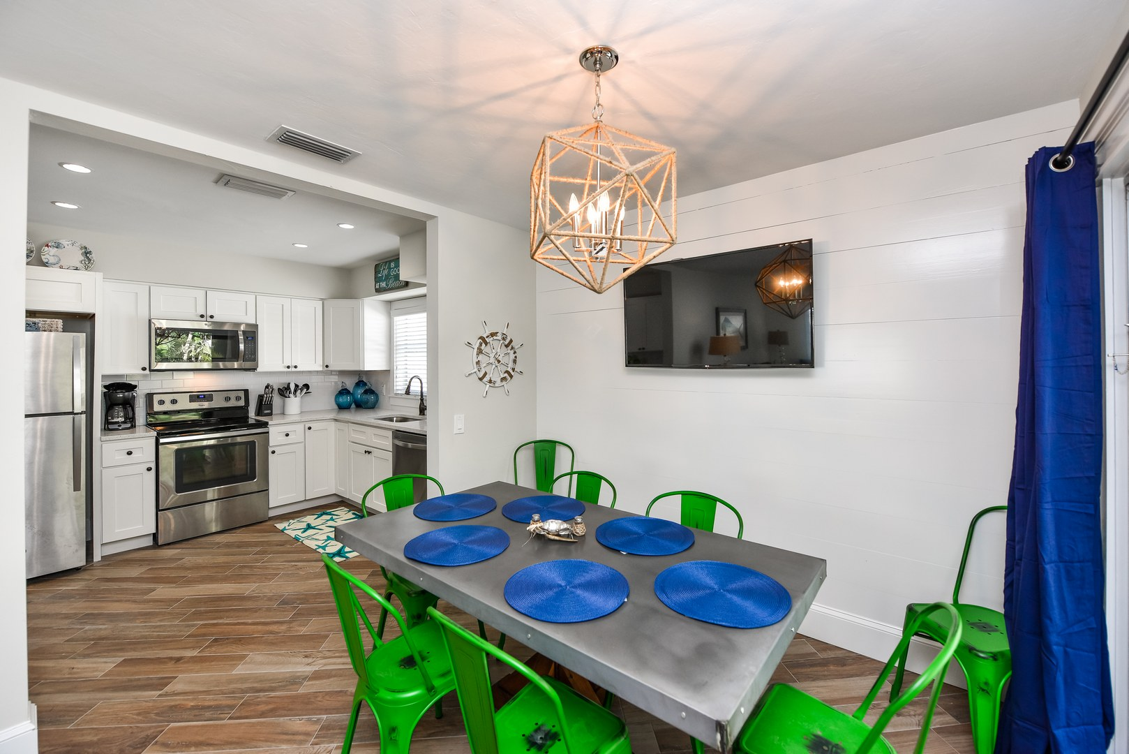 Dining Next to Kitchen for easy access - TV