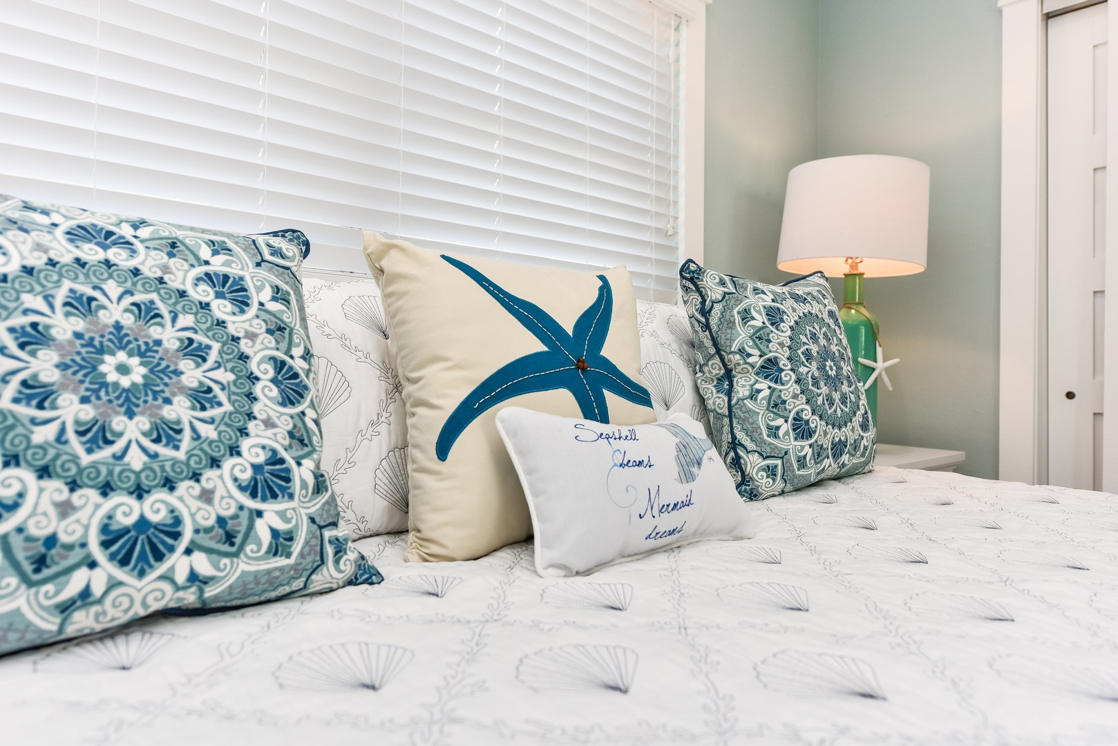 Pillows and Decorations make this a home away from home