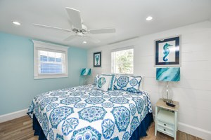 King Bed with Upgraded Linens - Private Master Bath attached