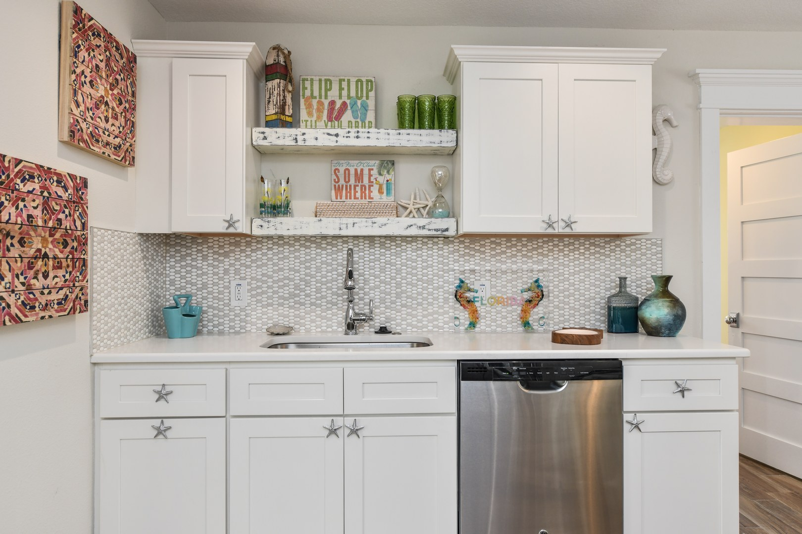 Kitchen - Sink, Dishwasher, Cabinets with beautiful decor