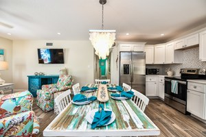 Living, Dining, and Kitchen