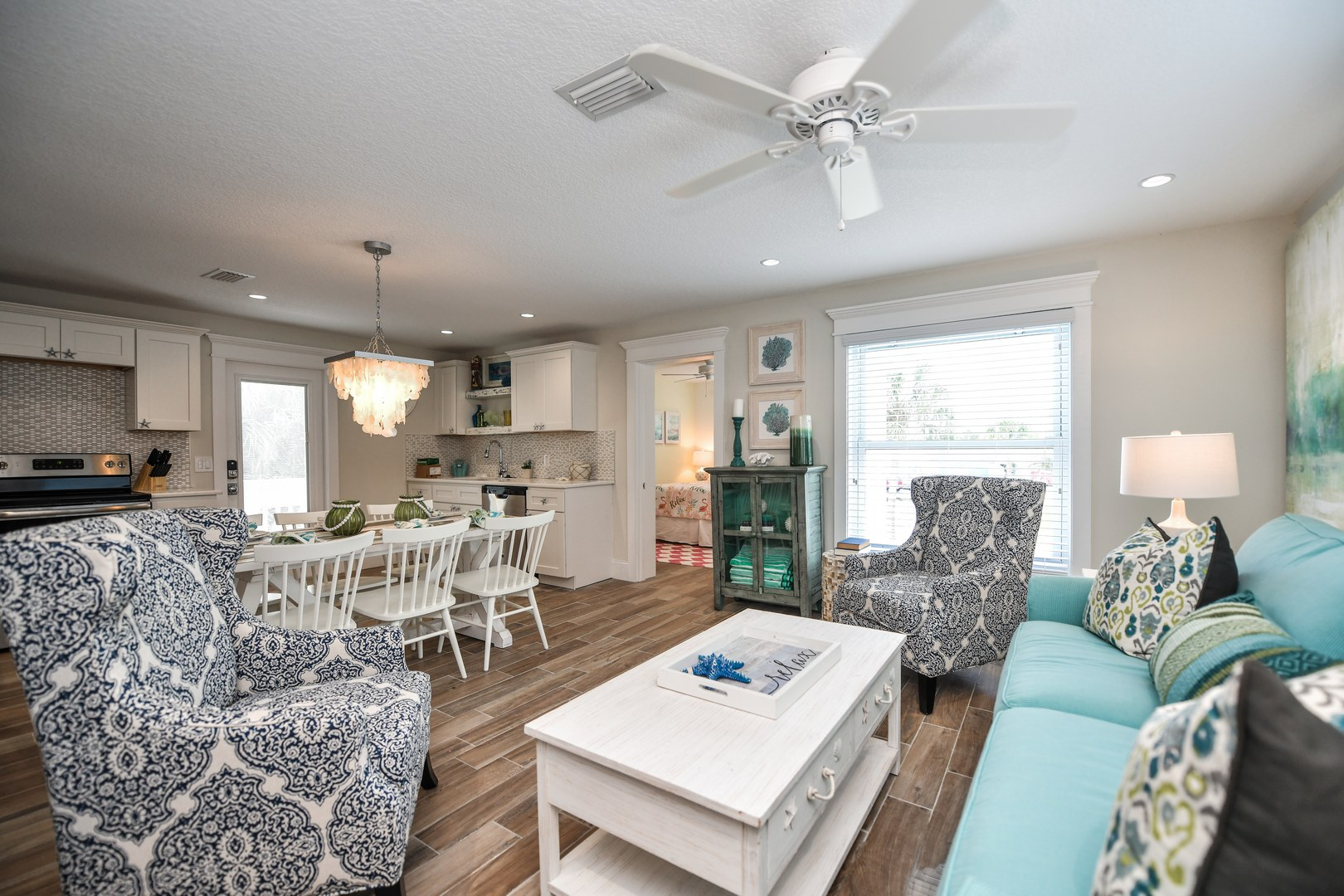 Great Room - Featuring Living, Dining, and Kitchen