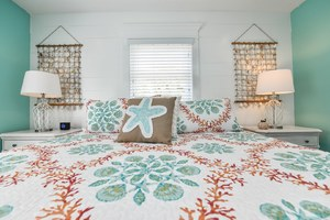 Master Bedroom - Fun and Beachy Decor and Linens