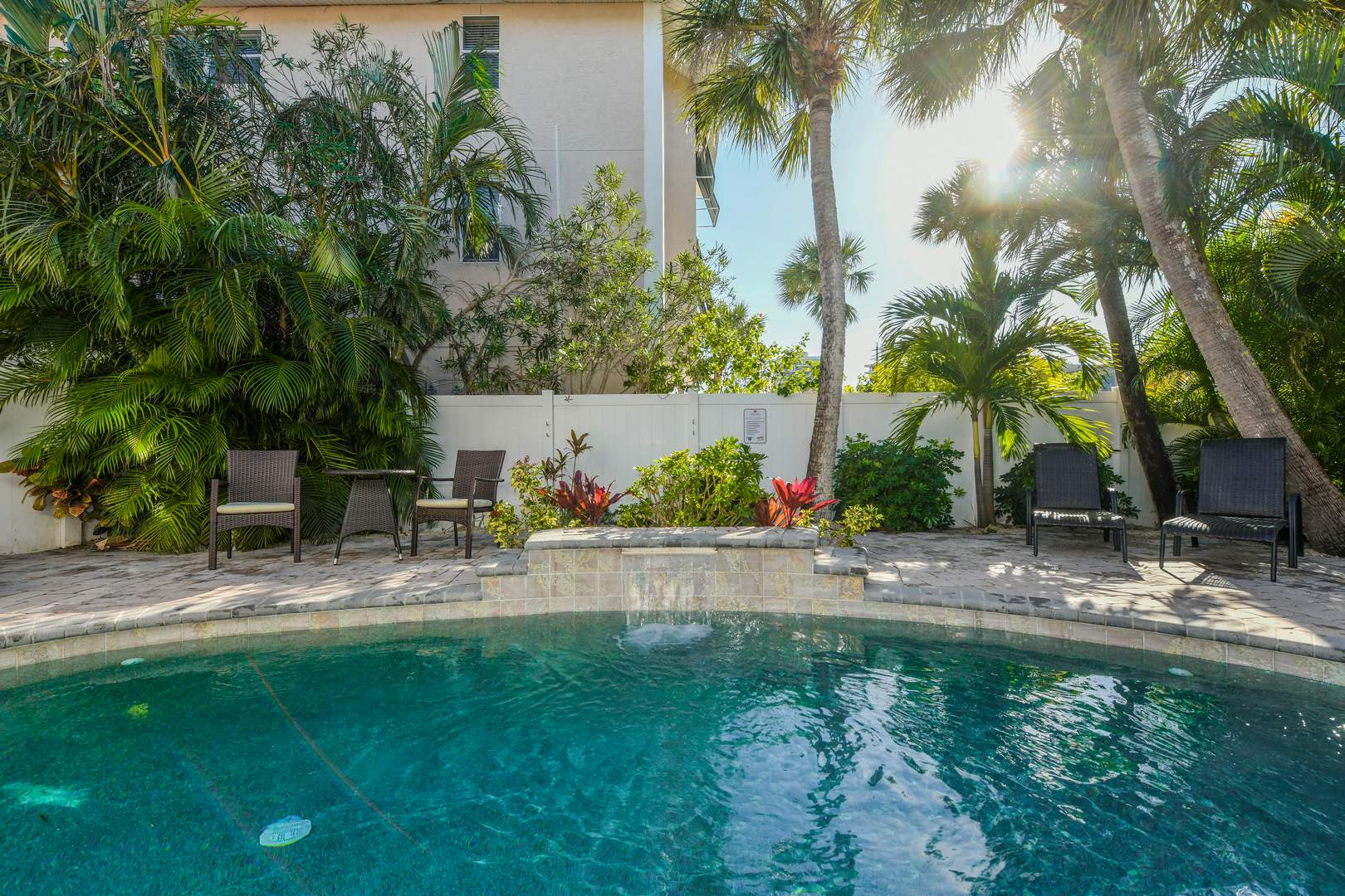 Private Heated Pool Area and BBQ Grill