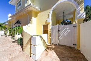 Side Entrance to Patio and Pool Bath