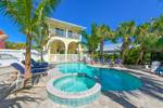 Siesta Key vacation home with large pool and patio 5 bedrooms and is pet friendly walk to the beach