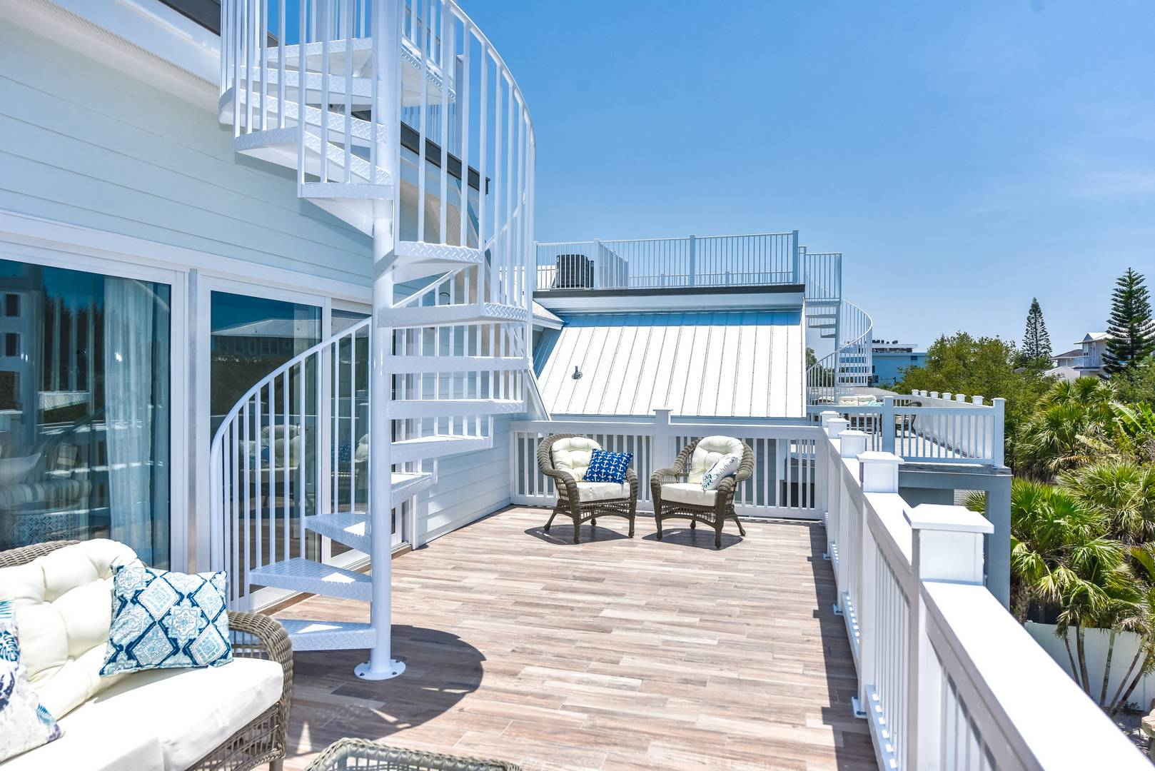 Roof Top Deck and Balcony off Living Area