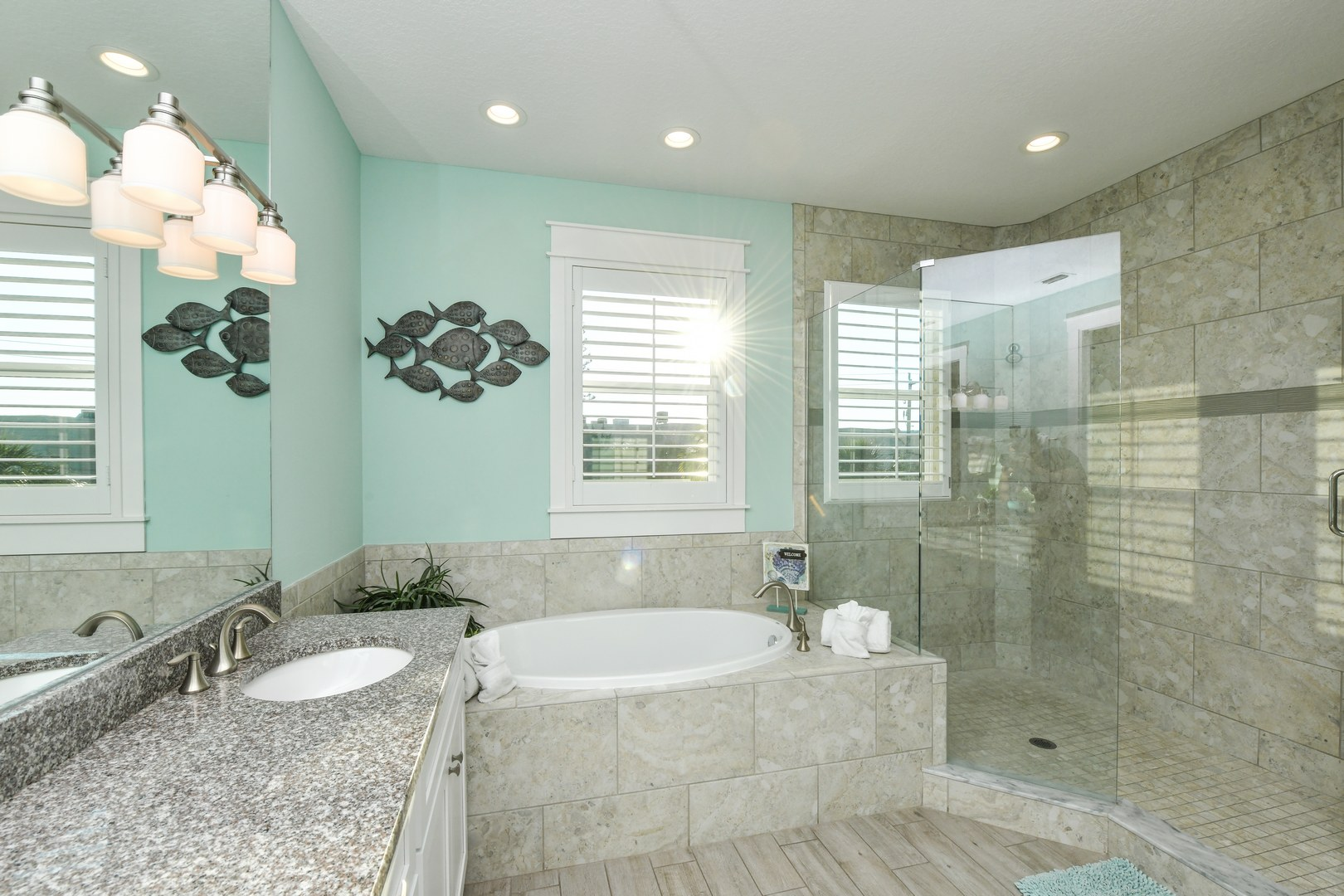 Master Bathroom - Walk in Shower and Private Water Closet
